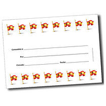 Personalised Spanish Flags Certificate (A5)