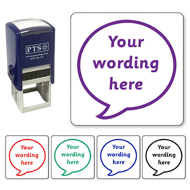 Personalised Speech Bubble Stamper (25mm)