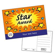 Personalised Star Award Burst Postcard (A6)
