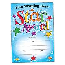 Personalised Star Award Certificate (A5) Brainwaves