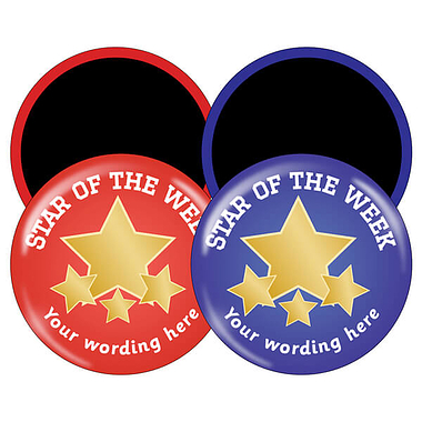 Personalised Star of the Week Magnets (10 Magnets - 38mm)
