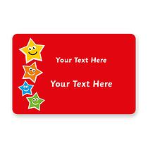 Personalised Star Stickers (32 Stickers - 46mm x 30mm)
