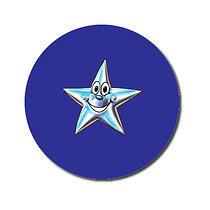 Personalised Star Stickers - Blue (70 per sheet - 25mm)