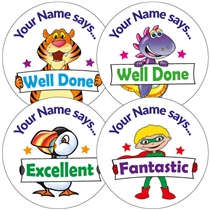 Personalised Stickers - Mixed Designs (35 Stickers - 37mm)