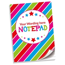 Personalised Striped Notepad (A4, 50 Page, Lined)