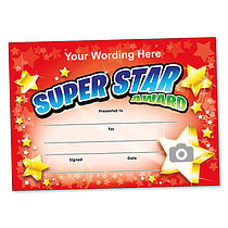 Personalised Super Star Award Certificate (A5) Brainwaves