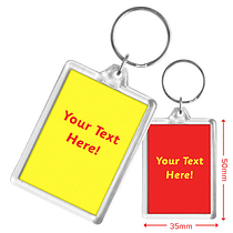 Personalised Text Only Acrylic Keyring
