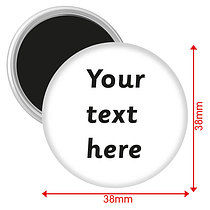 Personalised Text Only Magnets (10 Magnet - 38mm)
