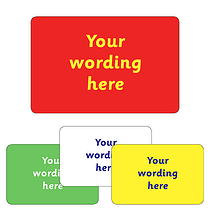 Personalised Text Only Stickers (32 per sheet - 46mm x 30mm)
