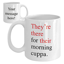 Personalised They're, there & their Ceramic Mug