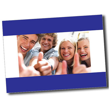 Personalised Thumbs Up Postcard - Blue (A6)