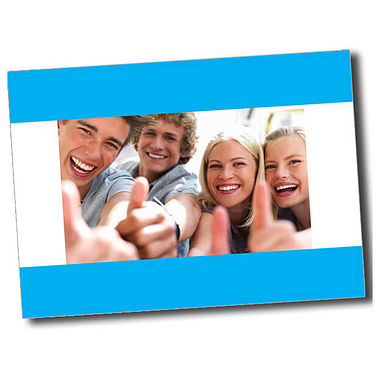 Personalised Thumbs Up Postcard - Cyan (A6)