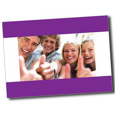 Personalised Thumbs Up Postcard - Purple (A6)