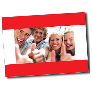 Personalised Thumbs Up Postcard - Red (A6)