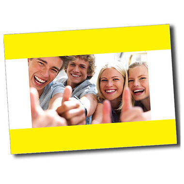 Personalised Thumbs Up Postcard - Yellow (A6)