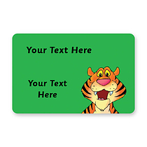 Personalised Tiger Stickers (32 per sheet - 46mm x 30)