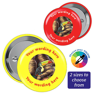 Personalised Toucan Badges (10 Badges)