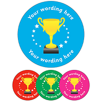 Personalised Trophy Stickers (35 per sheet - 37mm)