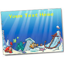 Personalised Underwate Anchor Sticker Collector Card (A5)