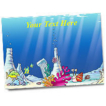 Personalised Underwater Coral Sticker Collector Card (A5)