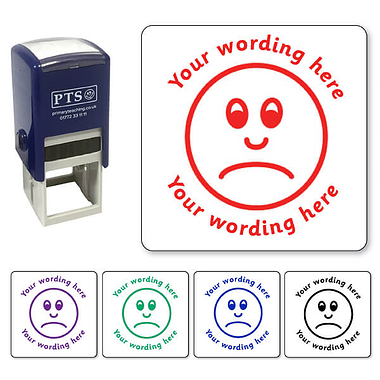 Personalised Unhappy Face Stamper (25mm)