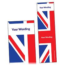 Personalised Union Flag Bookmark