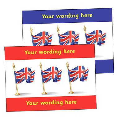Personalised Union Flag Postcard (A6)