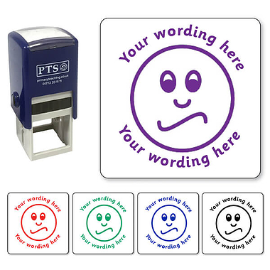 Personalised Unsure Face Stamper (25mm)