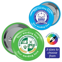 Personalised Upload Your Own Image Badges (10 Badges)