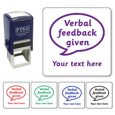 Personalised Verbal Feedback Given Stamper (25mm)
