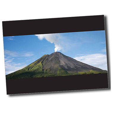 Personalised Volcano Postcard - Black (A6)