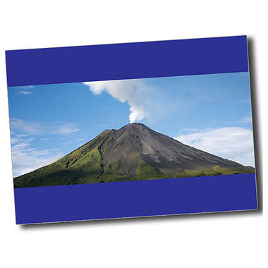 Personalised Volcano Postcard - Blue (A6)