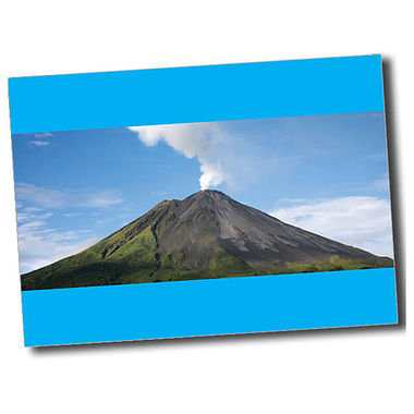 Personalised Volcano Postcard - Cyan (A6)