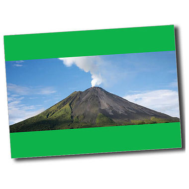 Personalised Volcano Postcard - Green (A6)