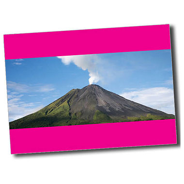 Personalised Volcano Postcard - Pink (A6)
