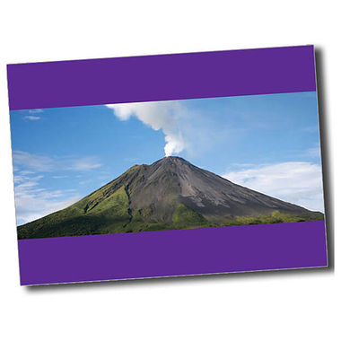 Personalised Volcano Postcard - Purple (A6)