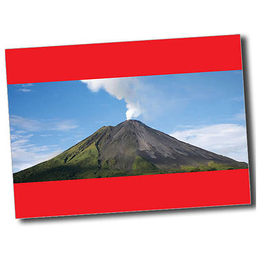 Personalised Volcano Postcard - Red (A6)