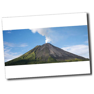 Personalised Volcano Postcard - White (A6)