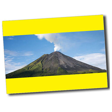 Personalised Volcano Postcard - Yellow (A6)