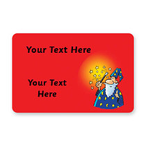 Personalised Wizard Stickers (32 per sheet - 46mm x 30mm)