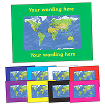 Personalised World Map Postcard (A6)
