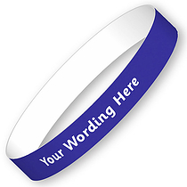 Personalised Wristbands - Blue (15mm x 250mm)
