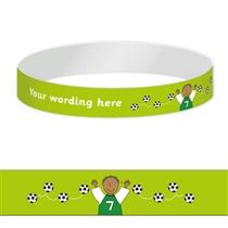 Personalised Wristbands - Pedagogs - Footballer (5 Wristbands)