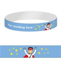 Personalised Wristbands - Pedagogs - Superhero (5 Wristbands)