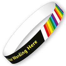 Personalised Wristbands - Rainbow (5 Wristbands - 15mm x 220mm)