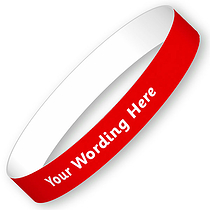 Personalised Wristbands - Red SET OF 5 (15mm x 250mm)