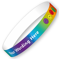 Personalised Wristbands - Smiles (5 Wristbands - 15mm x 250mm)