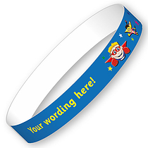 Personalised Wristbands - Superheroes Flying (5 Wristbands - 15mm x 250mm)