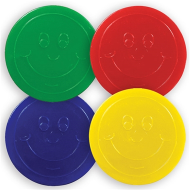 Plastic Reward Tokens for Housepoints & Maths Activities (50 Tokens - 35mm)