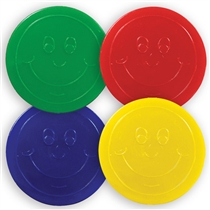Plastic Tokens for Housepoints & Sports Day or Maths Activities (50 Tokens - 35mm)